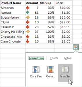 Analyze data with conditional formatting